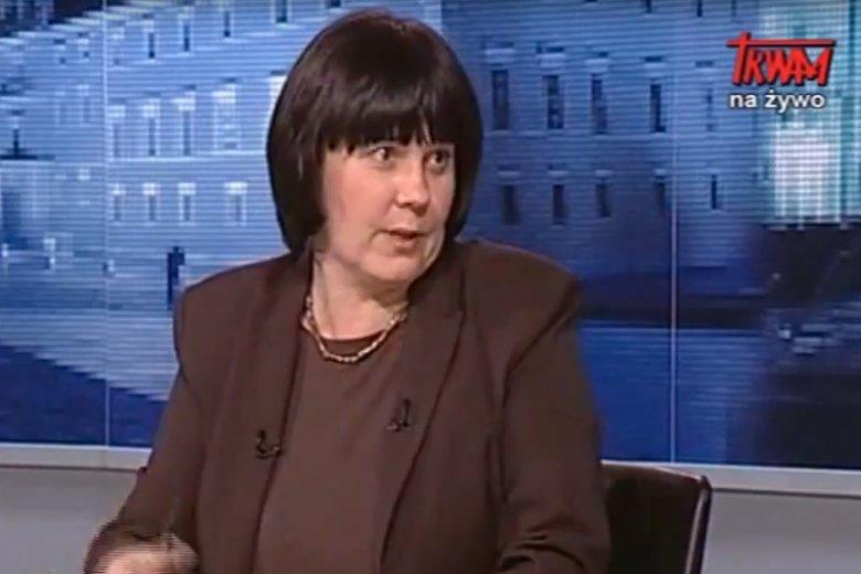 Dr Hanna Karp, specjalistka od ezoteryzmu. To ona stoi za karą dla TVN.