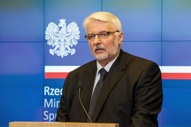 Witold Waszczykowski, szef Ministerstwa Spraw Zagranicznych