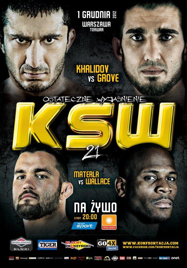 Plakat 21 gali KSW