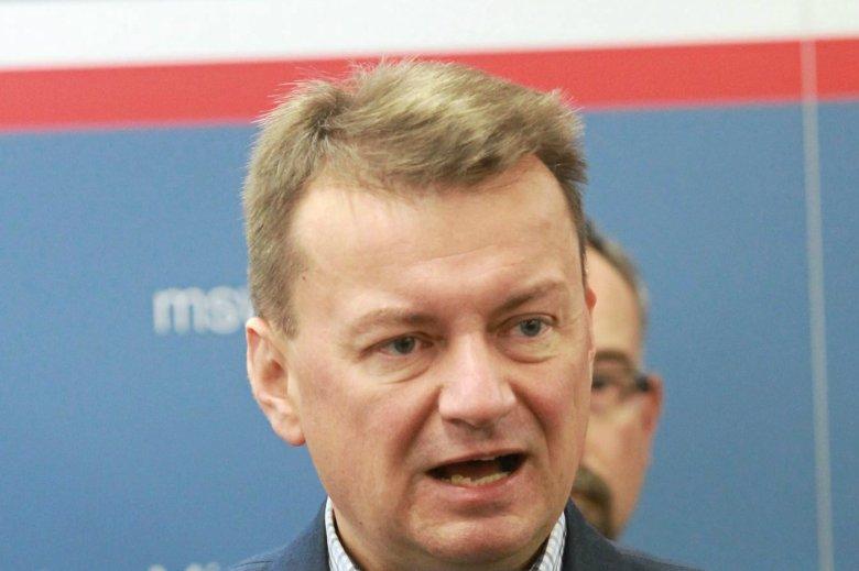Mariusz Błaszczak skrytykował decyzję Pawła Adamowicza ws. Westerplatte.