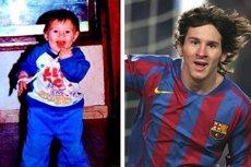 Leo Messi - jako dzieciak i dziś