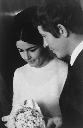 Dzień ślubu Wandy i Wojciecha Rutkiewiczów,  24 kwietnia 1970 r.