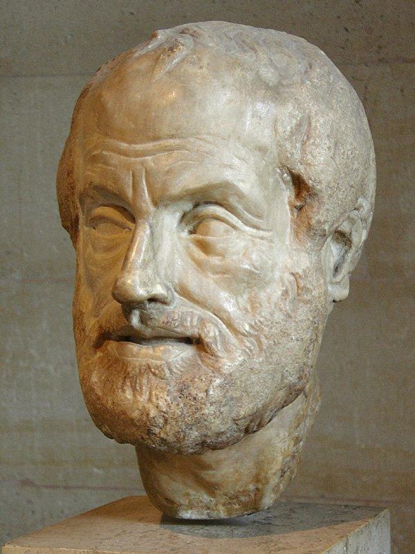 Arystoteles, rzeźba dłuta Lizypa