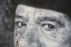 Naścienny portret pułkownika Kadafiego