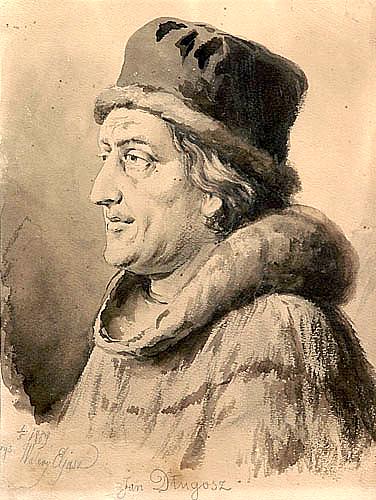Kronikarz Jan Długosz - jego ojciec walczył pod Grunwaldem.