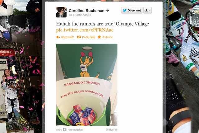 Caroline Buchanan informuje o prawie wszystkim co dzieje się w Londynie