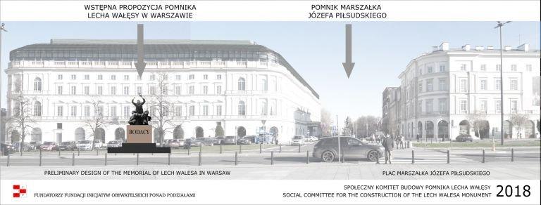 Lech Wałęsa miałby stanąć po prawicy marszałka Piłsudskiego
