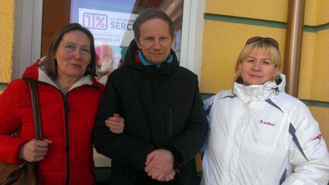 Od lewej: Urszula Przekwas, Jerzy Michno, Izabela Godard