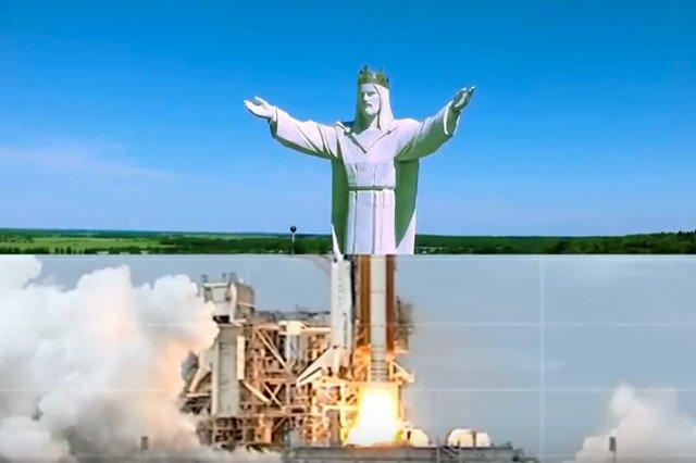 Jezus ze Świebodzina w teledysku.