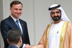 Szejk Muhammad ibn Raszid al-Maktum spotkał się w Warszawie m.in. z prezydentem elektem Andrzejem Dudą