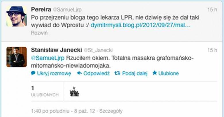 """Rozmowa między Stanisławem Janeckim, byłym redaktorem naczelnym """"Wprost"""" i Samuelem Pereirą z """"Gazety Polskiej Codziennie"""""""