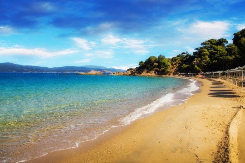 Plaża na wyspie Skiathos