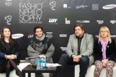 Konferencja zapowiadająca 10. edycję FashionPhilosophy Fashion Week Poland. Na zdjęciu Magda Christofi, Irmina Kubiak, Jacek Kłak oraz Monika Karolczak.