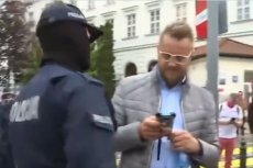 Kadr z zatrzymania Pawła Tanajno.