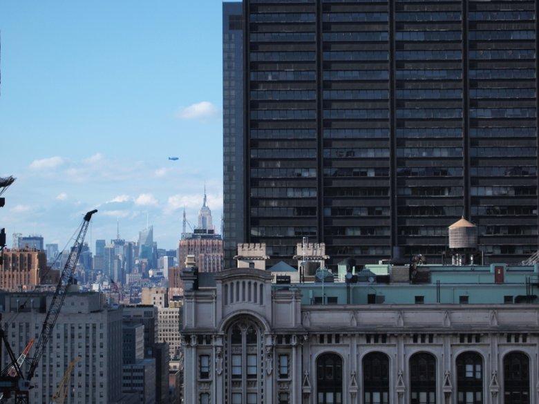 Widok z okna mieszkania pani Karoliny w Nowym Jorku