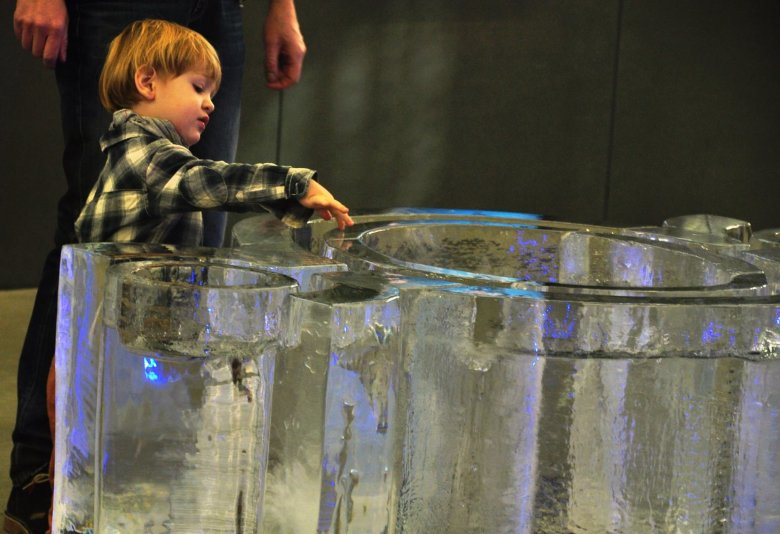 Jedna z ośmiu części wystawy w Hydropolis jest poświęcona stanom skupienia wody