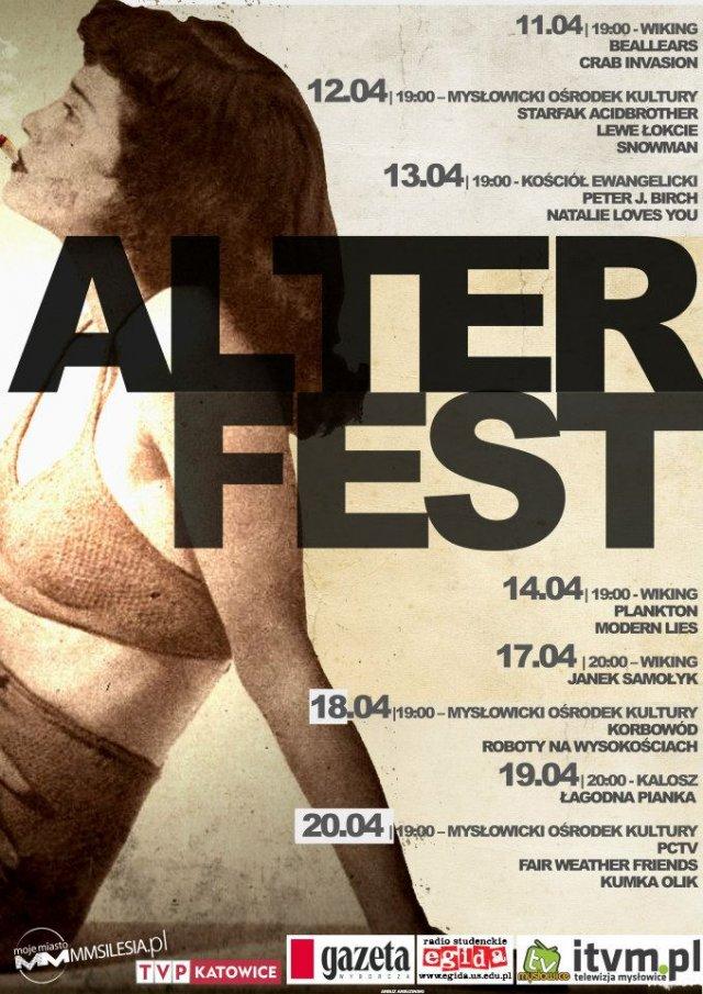 Plakat festiwalu AlterFest