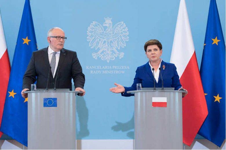 Nie pomogły zabiegi Beaty Szydło - Komisja Europejska wydała negatywnąwobec Polski opinię.