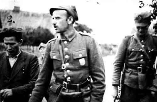 """Mjr Zygmunt Szendzielarz """"Łupaszka"""", wachm. Wacław Beynar """"Orszak"""" i por. Jerzy Jezierski """"Stefan"""""""