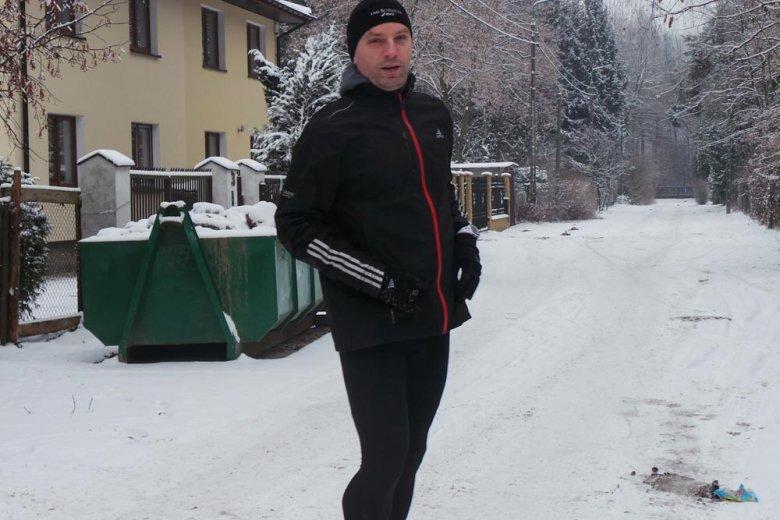 Tomasz Lis w Konstancinie podczas treningu