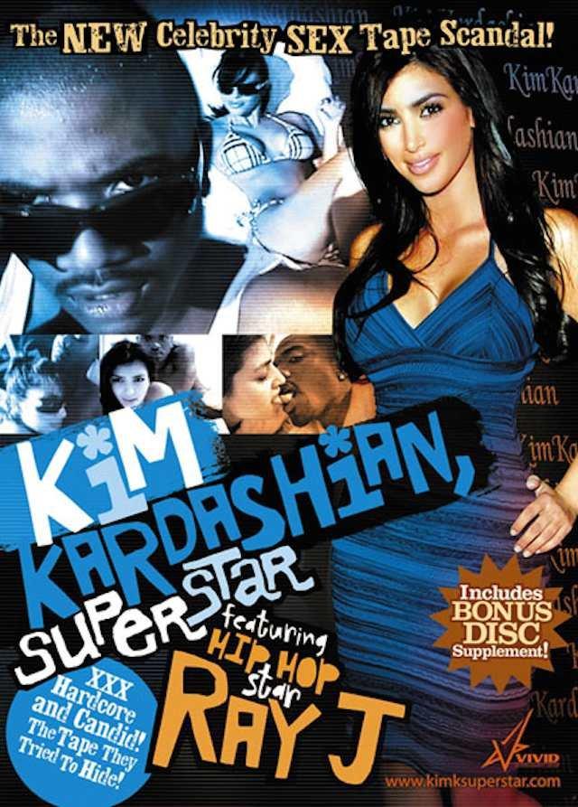 Okładka filmu pornograficznego z udziałem Kim Kardashian. Od tego zaczęła się wielka kariera Kim. Od porno po magazyn Vogue.