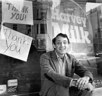 "Harvey Milk: ""If a bullet should enter my brain, let that bullet destroy every closet door in the country""."