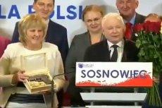 """Prezes Kaczyński dostał w sosnowcu """"pistolet na totalnych""""."""