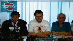 Andrzej Lepper i Leszek Bubel
