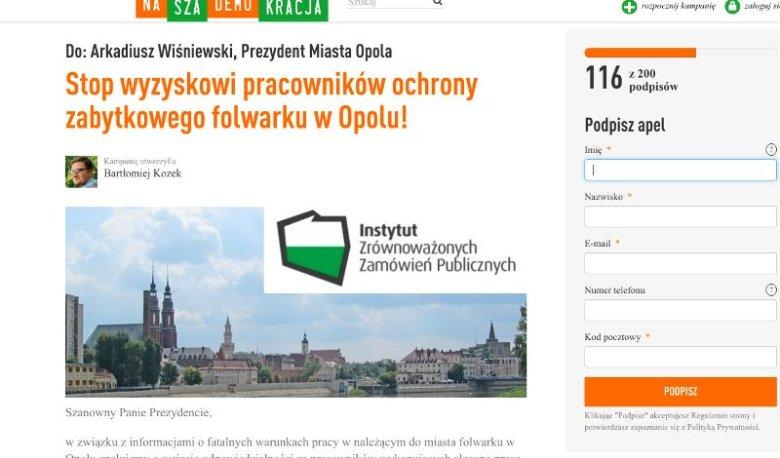 Petycja do prezydenta Opola