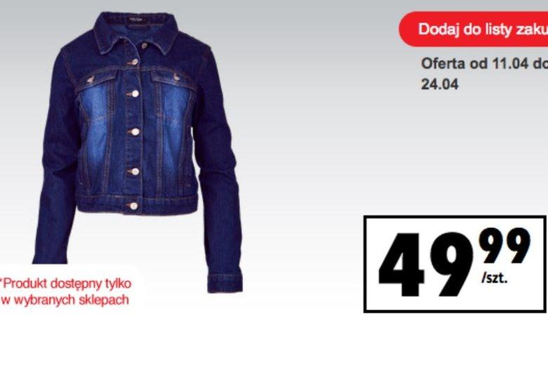 Kurtka jeansowa z Biedronki kosztuje niecałe 50 złotych