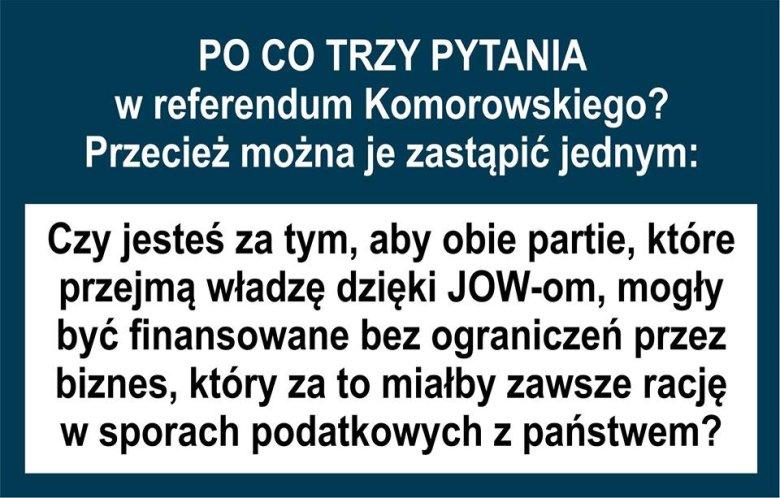 Mem referendalny autorstwa Wojciecha Kłosowskiego