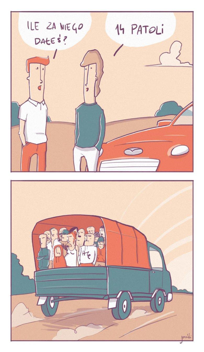 14 patoli za samochód? Uczciwy deal.