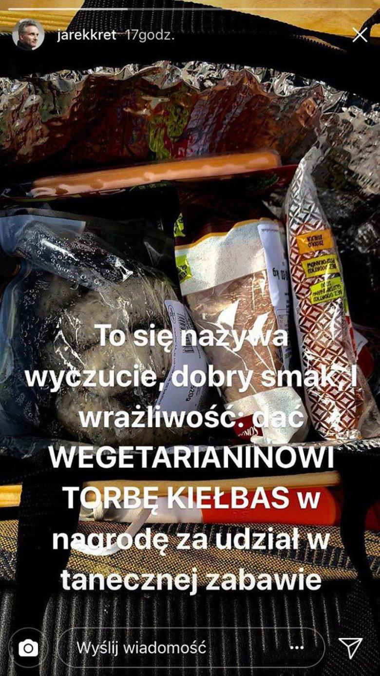 Jarosław Kret od lat jest wegetarianinem.