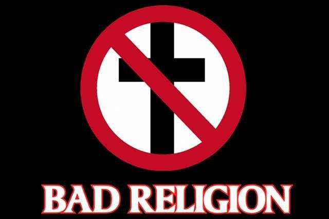 Logo punkowego zespołu antyreligijnego Bad Religion.