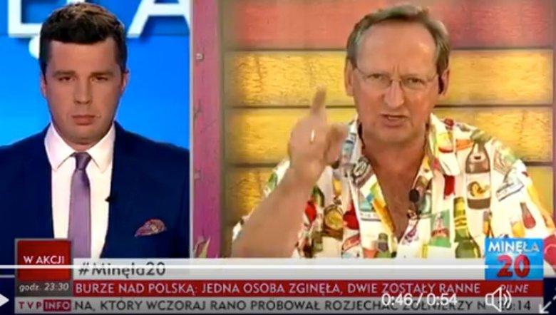 """Michał Rachoń, prowadzący """"Minęła 20"""" i Wojciech Cejrowski"""