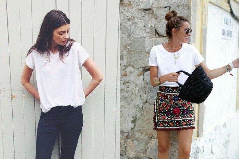 d122e53d57 Jak nosić biały t-shirt  Biały t-shirt na 10 sposobów