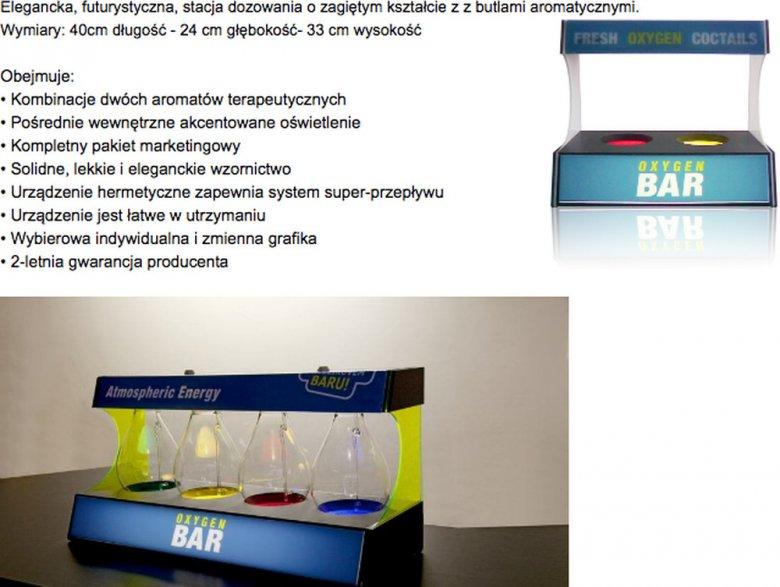 Firma Oxygenic sprzedaje wyposażenie do tlenowych barów.