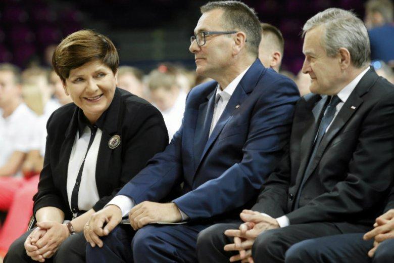Beata Szydło, Cezary Jurkiewicz - prezes zarządu Polskiej Fundacji Narodowej i minister kultury Piotr Gliński