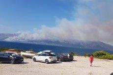 Pożary obserwują turyści przebywający w Chorwacji.