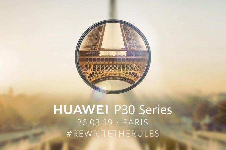 Huawei P30 będzie miał premierę w Paryżu. Już 26 marca.