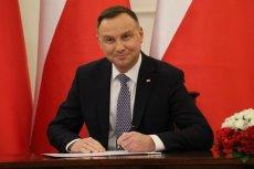 """Andrzej Duda podpisał ustawy z """"tarczy antykryzysowej""""."""