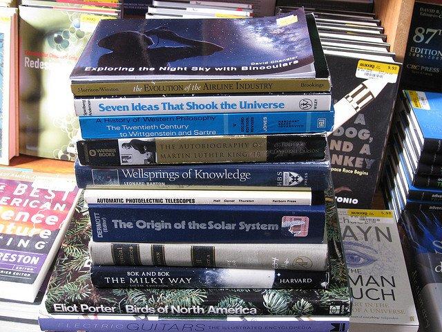 Używane książki też mogą być niezły łupem.