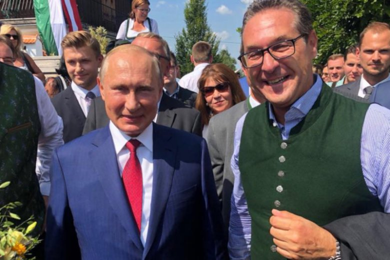 Kryzys polityczny w Austrii. Wicekanclerz Heinz-Christian Strache podał się do dymisji. Zdjęcie z 2018 roku.