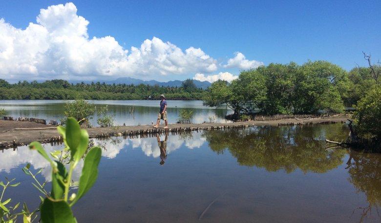 Słone jezioro na Gili Meno, 2016