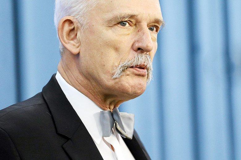 Janusz Korwin-Mikke o Dominiku Tarczyńskim: Nie ma zdolności honorowych.