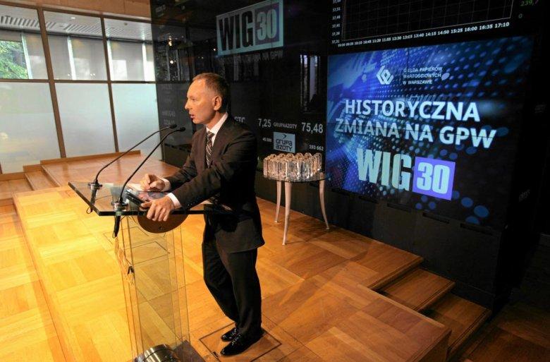 Prezes GPW Adam Maciejewski