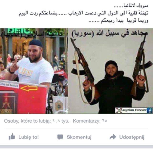 Ghaze Abdulloh, przekonuje, że wśród rzekomych uchodźców znajdą się tacy jak ten