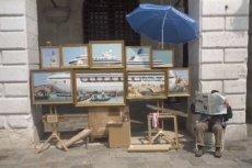 """Baksy rozstawił swoje nowe dzieło """"Venice in oil"""" na Placu św. Marka"""