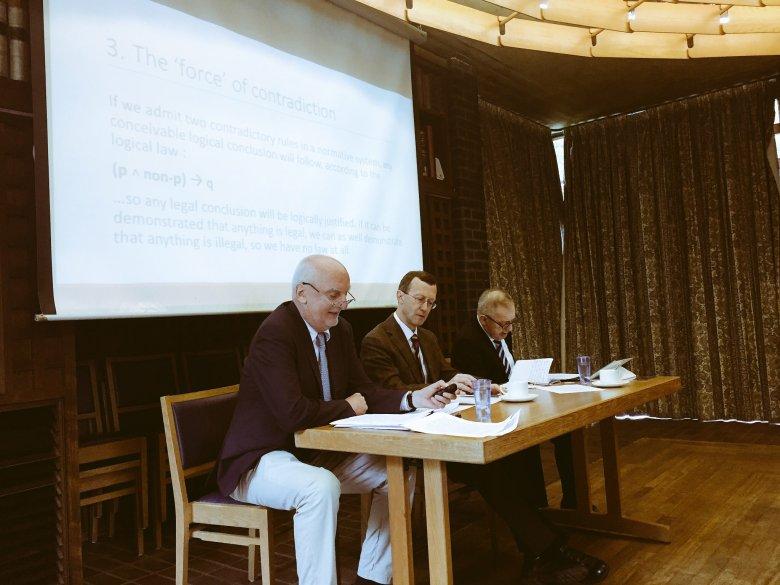 Prof. Tomasz Gizbert-Studnicki, Prof. Timothy Endicott, Prof. Lech Morawski
