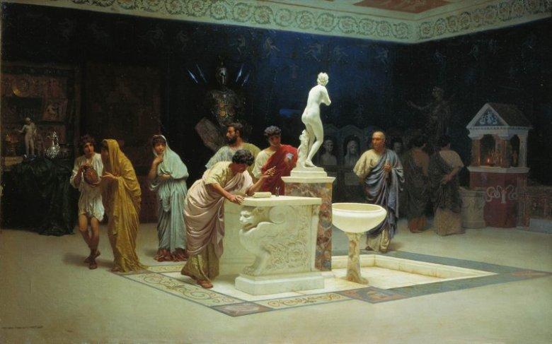 Spotkanie poetów i uczonych w willi protektora sztuki i nauki Gaiusa Cilniusa Maecenasa